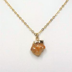 Natural Citrine Raw Stone Pendant