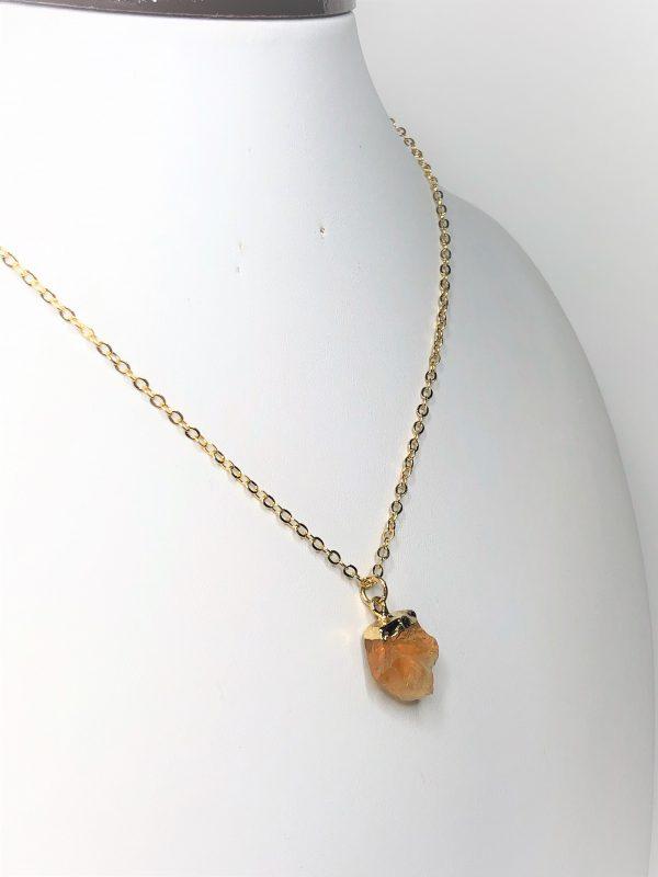 Natural Citrine Raw Stone Pendant