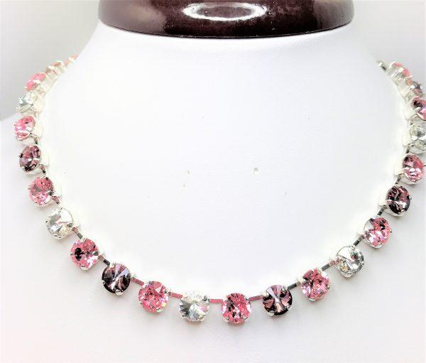 Purple Ombre Swarovski Necklace