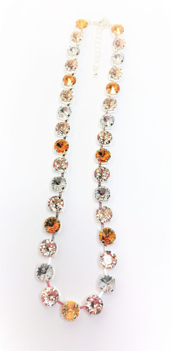 Sunflower Ombre Swarovski Necklace