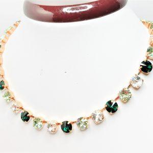 Emerald Ombre Swarovski Crystal Necklace