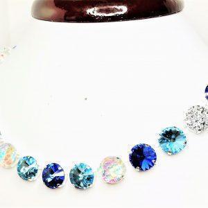 Sapphire Aquamarine Swarovski Crystal Necklace