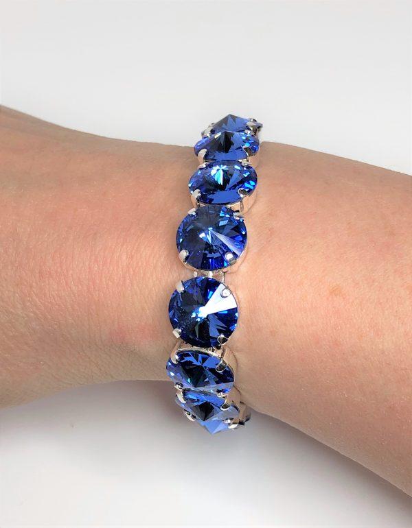 Sapphire Swarovski Crystal Stretch Bracelet