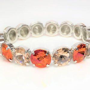 Astral Pink Swarovski Stretch Bracelet