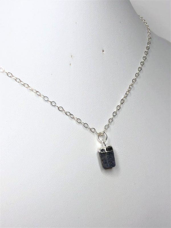 Natural Raw Stone Sapphire Pendant