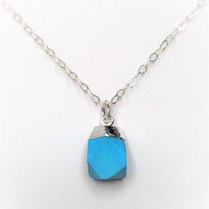 Natural Raw Stone Turquoise Pendant