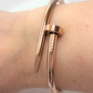 Rose Gold Nail Love Bangle