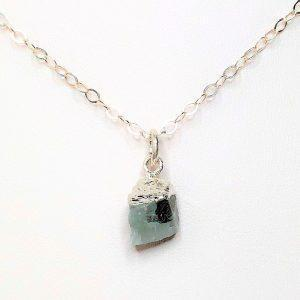 Aquamarine Natural Stone Sterling Silver Pendant
