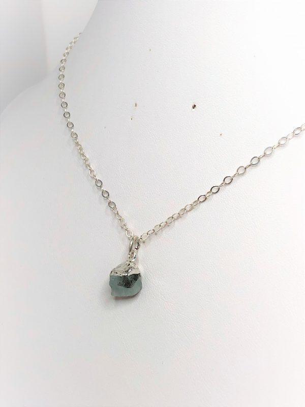 Aquamarine Natural Raw Stone Pendant