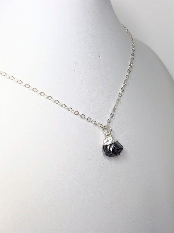 Raw Stone Amethyst Sterling Silver Pendant