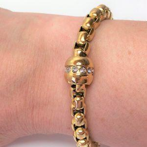Gold Plated CZ Chain Bracelet