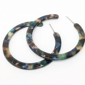 Multi-Colour Resin Tortoise Shell Earrings