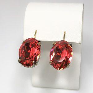 18mm Swarovski Lever Back Earrings