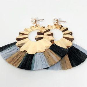 Multicolour Bohemian Fringe Tassel Earrings