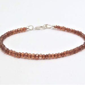 Golden Mystic Quartz Gemstone Silver Bracelet