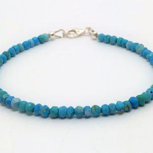 Chinese Turquoise Gemstone Silver Bracelet