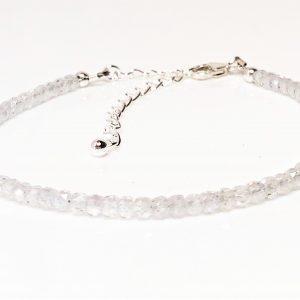 Cubic Zirconia Gemstone Sterling Silver Bracelet