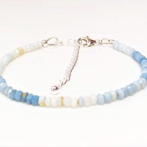 Denim Blue Opal Gemstone Bracelet