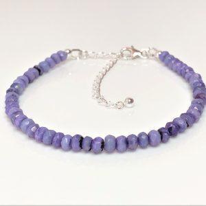 Purple Opal Gemstone Sterling Silver Bracelet