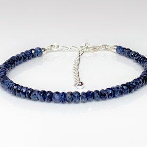 Blue Sapphire Sterling Silver Bracelet