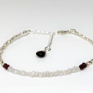 Diamond Garnet Karen Hill Silver Bracelet
