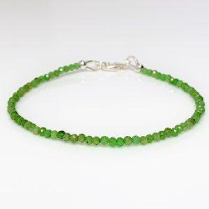 Chrome Diopside Sterling Silver Bracelet