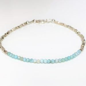 Blue Larimar Karen Hill Silver Bracelet