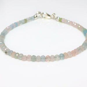 Morganite Sterling Silver Bracelet