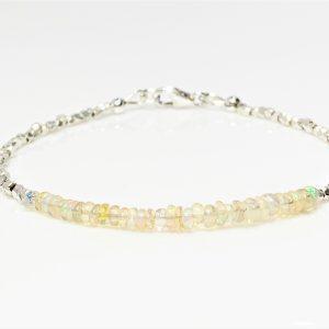 Ethiopian Opal Karen Hill Tribe Silver Bracelet