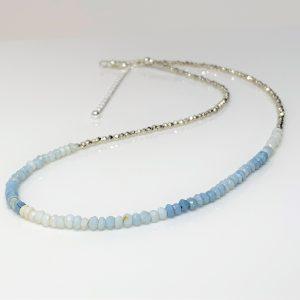 Denim Blue Opal Karen Hill Minimalist Necklace